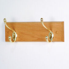 """Wooden Mallet 2 Hook Coat Rack- HCR-2BLO Coat Rack 12"""" x 3.5"""" x 4.5"""" NEW"""