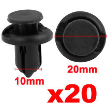 20 Pcs 10mm Plastic Push Type Rivet Retainer Fastener Bumper Pin Clips for Car
