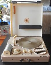 VINTAGE AND RARE CASE RECORD PLAYER TURNTABLE EVERMAT T7