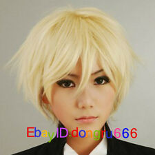 Butler Alois Trancy Straight Short Blonde Cosplay Anime Wig + Free wig cap