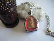 Spiritual Inspirational Buddha Necklace Thai Monk Blessed & Made Clay Amulet