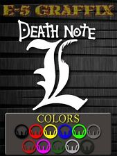 Death Note L Vinyl Decal Sticker Anime Manga Naruto Bleach Gundam Black Butler