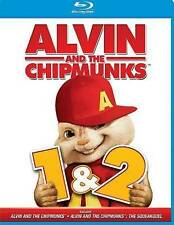 ALVIN AND THE CHIPMUNKS 1 AND 2 (Blu-ray Disc, 2013) NEW