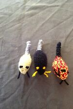 PLEASE HELP WHINNYBANK CAT SANCTUARY IN FIFE - 3 HOMEMADE TINY CATNIP MICE TOYS.