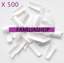 500 TIPS CAPSULES BLANCHES FAUX ONGLES GEL UV A PETITE ENCOCHE