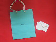 NEW! Authentic Tiffany & Co. Medium Gift Bag 8 x 9.75 x 4 w/ Note Card Envelope