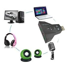 Dual 3D External USB Virtual 7.1 Channel USB 2.0 Audio Adapter Double Sound Card