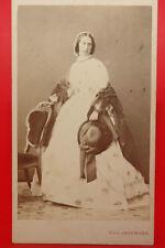 CDV Adolfine dama in bianco abito do la caccia ai Uomo Vienna nobiltà Impero KUK 1861 lt080