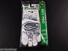 Cutters S450 Rev Pro Special Edition White and Camo Adult XL Football Gloves