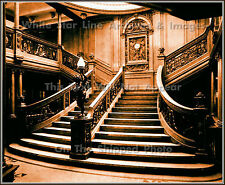 Poster Print Sepia View: Titanic's Main Grand Staircase