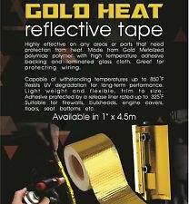 "TOG 450 DEGREE GOLD HEAT DEFENCE REFLECTIVE TAPE 1"" X 4.5M TOYOTA MR2 AE86 4AGE"
