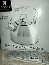 Chantal Classic Brushed Stainless Steel Whistling/Harmonica Teakettle