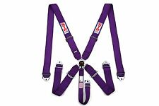 STR 5-Point Racing Safety Harness Seat Belt SFI Aircraft CamLock F2 Purple