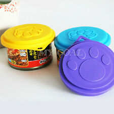 3pcs Pet Food Can Cover Lids Dog Cat Pets Tin Plastic Reusable Covers Caps Top