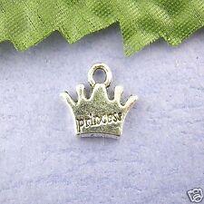 10 x Tibetan Silver Princess Crown Pendant Crowns