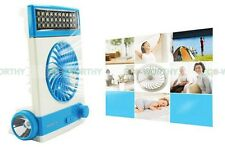 Rechargeable Solar Or Ac Charged Combo Fan with LED Lantern Light & Flashlight