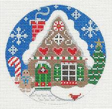 SP.ORDER ~ Village Series Gingerbread House HP Needlepoint Canvas by Danji