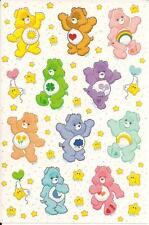 Vtg? TCFC Care Bears Character Stickers Sheet