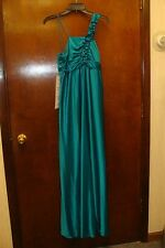 NEW  WOMENS MISSES SIZE 8-10 MEDIUM GREEN LONG PROM FORMAL EVENT GOWN DRESS