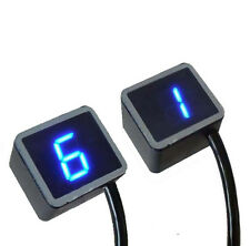 LED Universal Digital Gear Indicator Motorcycle Display Shift Lever Sensor New