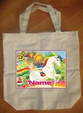 """""""Rainbow Brite"""" Custom Personalized Birthday Tote Bag Party Favor"""