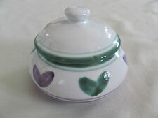 Caleca Violetta Hand Painted in Italy - Purple/Green - Sugar Bowl with Lid