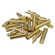 10pair/lot 4.0mm 4mm Gold Bullet Connector Battery ESC Plug L Style