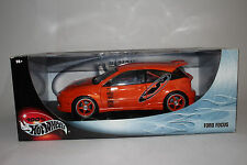 HOT WHEELS DIECAST 1:18 SCALE, CUSTOMIZED FORD FOCUS HATCHBACK STREET RACER