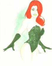 Poison Ivy Color Commission - Signed art by Terry Parr