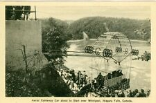 Niagara Falls, ON Aerial Cableway Car about to Start over  the Whirlpools RPPC
