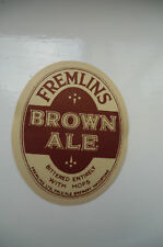 A FREMLINS BROWN ALE MAIDSTONE KENT BEER BOTTLE LABEL