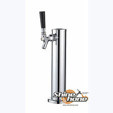 "Single Tap Stainless Steel Draft Beer Kegerator Tower - 3"" Dia. Homebrew"