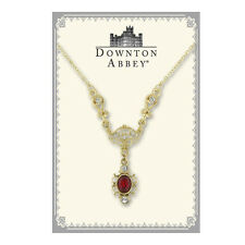 Downton Abbey Gold-Tone Red Crystal Drop Necklace 17511