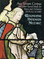 Mozart Ave Verum Corpus Full Score Vocal Choral Learn Sing Orchestra Music Book