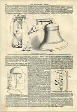 1847 Apparatus For Ringing Tunnel Bell Electric Telegraph Engraving