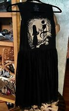 Nightmare Before Christmas Jack & Sally Silhouette Mesh Dress -L Disney
