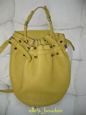 NWT Alexander Wang Diego Yellow Citrus Pebbled Bag Studded Handbag