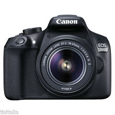 "Fotocamera CANON EOS 1300D Kit + EF-S 18-55 IS II Sensore CMOS 18Mpx 3"" Full HD"