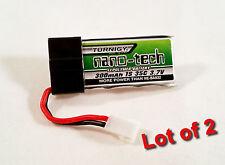 2 TURNIGY Nano-Tech Lipo Battery 1S 35C-70C 300mAh 3.7v Lithium Polymer Pack  A8