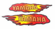 YAMAHA TANK EMBLEMS SMALL  ,FLAME DECALS ,UK FREEPOST