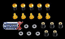 WINDSCREEN BOLTS SCREWS 10 Kit GSXR 1000 600 750 Yellow