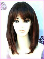 Ladies Fashion Wigs Face Frame Style Mixed Brown Copper Wig.  VOGUE Wigs UK