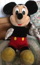 "Rare, Old , Collectable Disney land World LARGE 14"" Mickey Mouse Soft Toy"