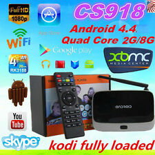 CS918 Quad-Core RK3188 TV Box Player 2G/8GB WiFi for XBMC Bluetooth OY