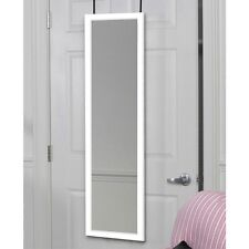 Full Length Door Hanging Wall Mount White Dressing Mirror