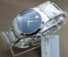 B.NEW AUTH SWISS MOVADO DEFIO BLUE DIAL,S.S MODEL#0606335 MEN'S WATCH,RETAIL$995