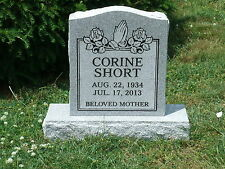 Granite Headstone Grave Marker- gray- multiple engraving options included