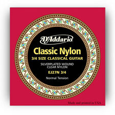 D'Addario EJ27N 3/4 Student Nylon Classical Guitar Strings normal tension