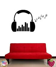 Wall Stickers Vinyl Decal Headphones Music Rock Notes   (z1627)