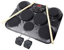 NEW Pyle PTED01 Electronic Table Top Drum Kit 7 Pad 2 Pedals 25 Preset Drum Kits